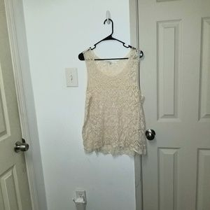 Nwot lace knit sleeveless top